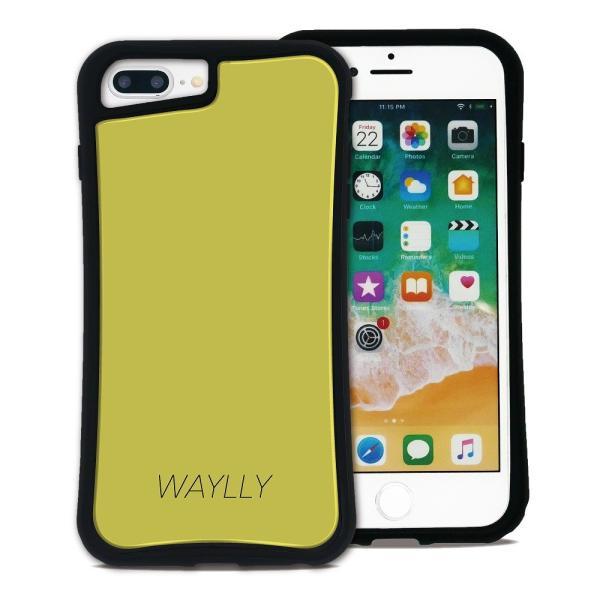 iPhone 7Plus 8Plus 6Plus 6sPlus ケース スマホケース スモールロゴ 耐衝撃 シンプル おしゃれ くっつく ウェイリー WAYLLY _MK_ waylly 26