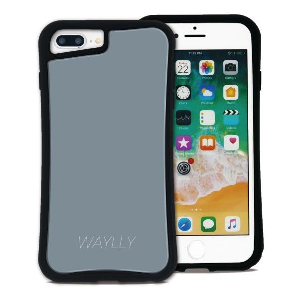 iPhone 7Plus 8Plus 6Plus 6sPlus ケース スマホケース スモールロゴ 耐衝撃 シンプル おしゃれ くっつく ウェイリー WAYLLY _MK_ waylly 27