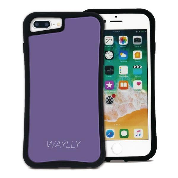 iPhone 7Plus 8Plus 6Plus 6sPlus ケース スマホケース スモールロゴ 耐衝撃 シンプル おしゃれ くっつく ウェイリー WAYLLY _MK_ waylly 28