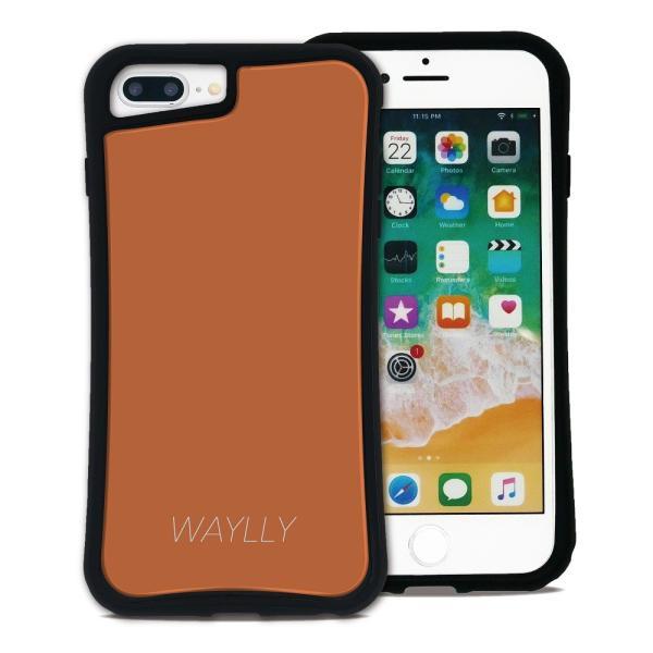 iPhone 7Plus 8Plus 6Plus 6sPlus ケース スマホケース スモールロゴ 耐衝撃 シンプル おしゃれ くっつく ウェイリー WAYLLY _MK_ waylly 30