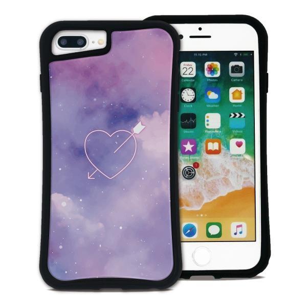 iPhone 7Plus 8Plus 6Plus 6sPlus ケース スマホケース ゆめかわ 耐衝撃 シンプル おしゃれ くっつく ウェイリー WAYLLY _MK_ waylly 18