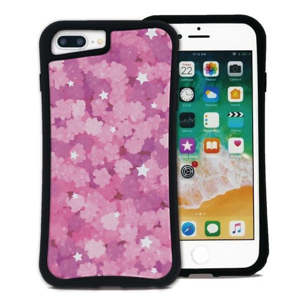 iPhone 7Plus 8Plus 6Plus 6sPlus ケース スマホケース ゆめかわ 耐衝撃 シンプル おしゃれ くっつく ウェイリー WAYLLY _MK_ waylly 20
