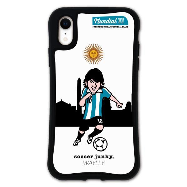 iPhone XR ケース スマホケース サッカージャンキー ジェリー 耐衝撃 シンプル おしゃれ くっつく ウェイリー WAYLLY _MK_ waylly 26