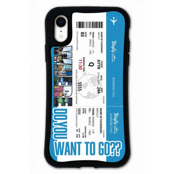 iPhone XR ケース スマホケース あややん 耐衝撃 シンプル おしゃれ くっつく ウェイリー WAYLLY _MK_ waylly 19