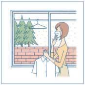 花粉症の季節や梅雨のシーズンに大活躍する室内物干し金物