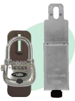 物件管理ロック-光る南京錠(鍵)付き