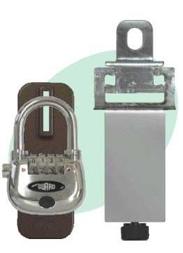 物件管理ロック かぶせ扉用-光る南京錠(鍵)付き