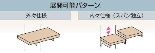 棚受け金物(収納)-棚受けブラケット 使用例