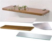 DIYリフォーム-化粧棚板(壁面収納)木製・ステンレス・ガラス・アクリル板(プラスチック)