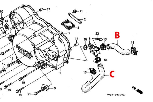 T2:Racing:T2レーシング:センタープラグ化用:シリコンラジエターホース:フルセット:HONDA:NSR250R