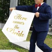 Here comes the bride ウェディングフラッグ ガーランド