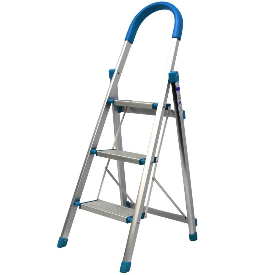 はしご アルミ 3段 116m 踏み台 ステップ台 はしご兼用脚立 折りたたみ 梯子 グリップ付き 安全 頑丈 脚立 おしゃれ 軽量 折りたたみ脚立 ステップラダー DIY weimall 12