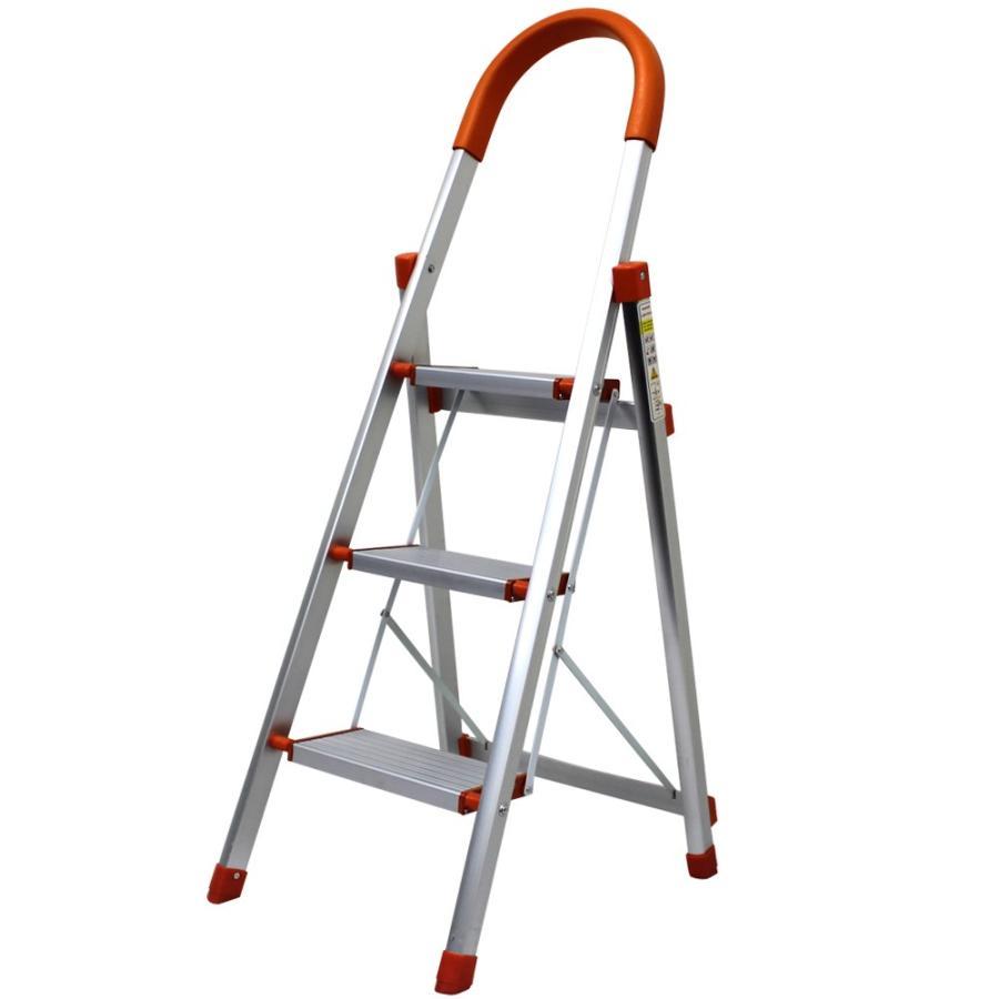 はしご アルミ 3段 116m 踏み台 ステップ台 はしご兼用脚立 折りたたみ 梯子 グリップ付き 安全 頑丈 脚立 おしゃれ 軽量 折りたたみ脚立 ステップラダー DIY weimall 13