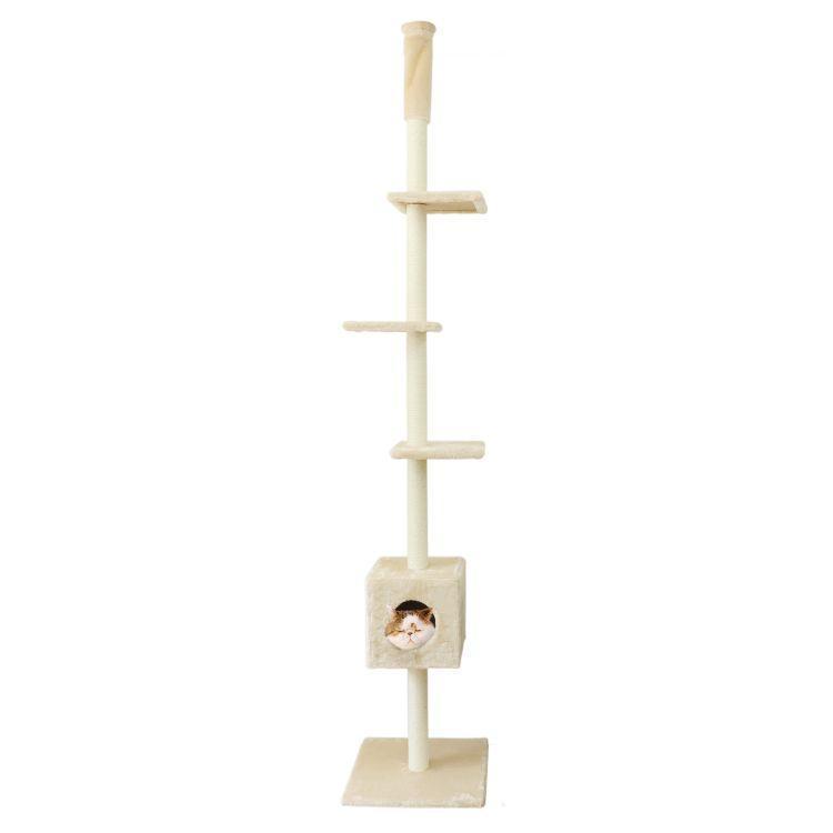 WEIMALL キャットタワー 全2色 突っ張り型 240〜260cm 猫タワー 爪とぎ 猫 麻 キャットハウス ネコタワー|weimall|08