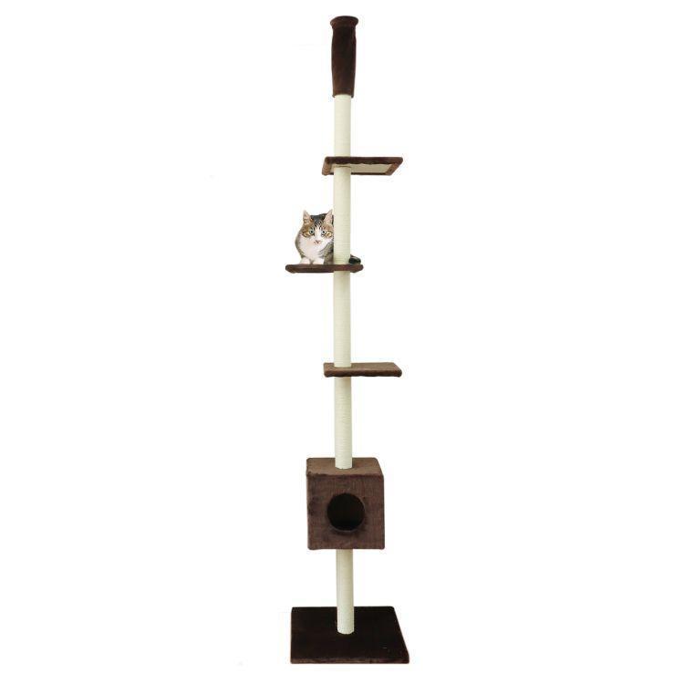 WEIMALL キャットタワー 全2色 突っ張り型 240〜260cm 猫タワー 爪とぎ 猫 麻 キャットハウス ネコタワー|weimall|09
