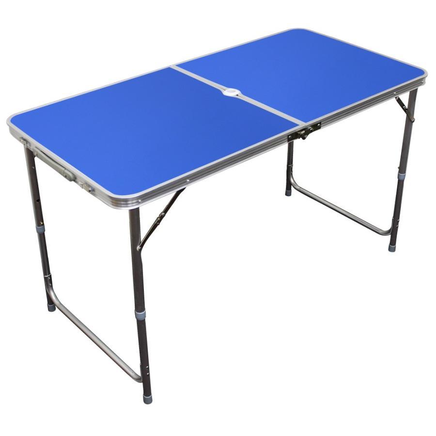 アウトドアテーブル 折りたたみ 120cm 高さ調節可能  ローテーブル パラソル穴付き 軽量 防水 全6色 アルミ レジャーテーブル MERMONT|weimall|15