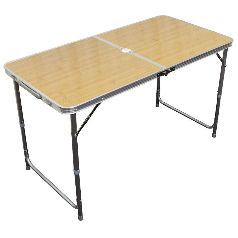 アウトドアテーブル 折りたたみ 120cm 高さ調節可能  ローテーブル パラソル穴付き 軽量 防水 全6色 アルミ レジャーテーブル MERMONT|weimall|16