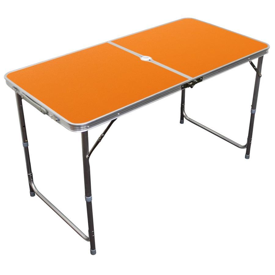 アウトドアテーブル 折りたたみ 120cm 高さ調節可能  ローテーブル パラソル穴付き 軽量 防水 全6色 アルミ レジャーテーブル MERMONT|weimall|17