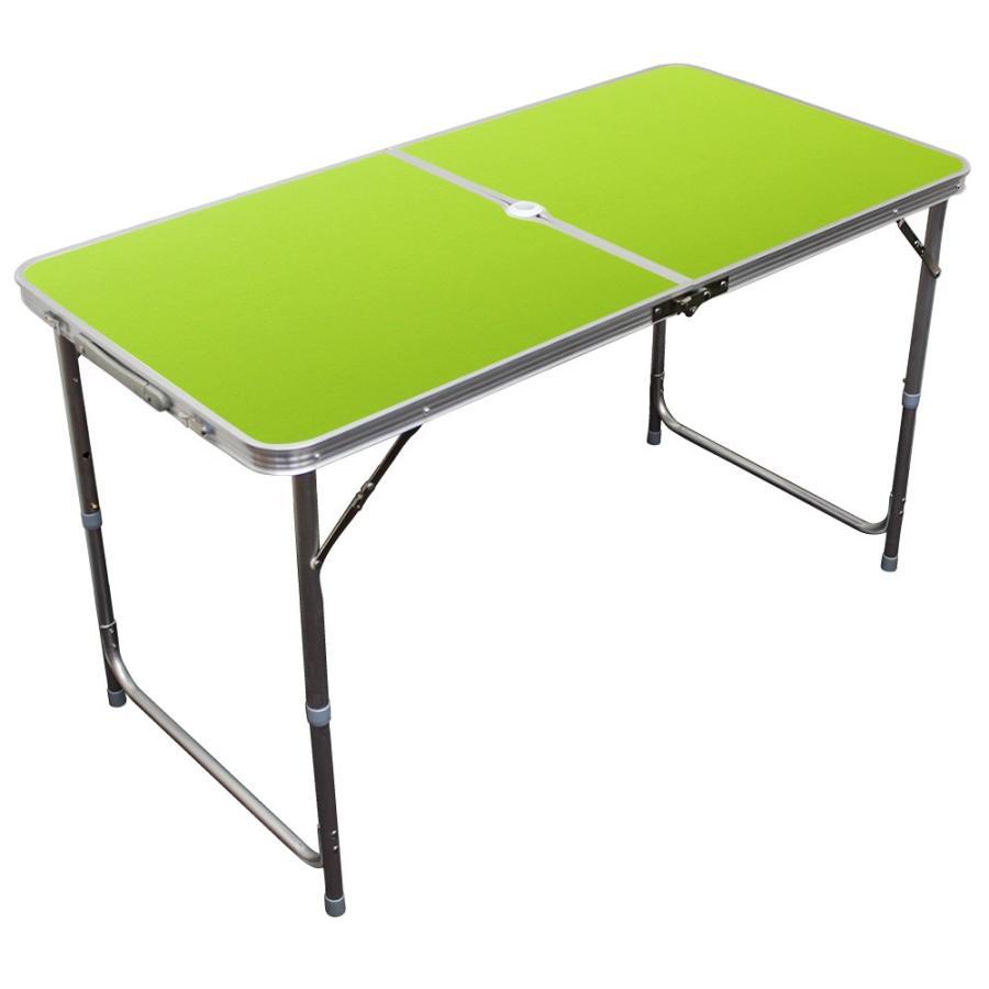 アウトドアテーブル 折りたたみ 120cm 高さ調節可能  ローテーブル パラソル穴付き 軽量 防水 全6色 アルミ レジャーテーブル MERMONT|weimall|18