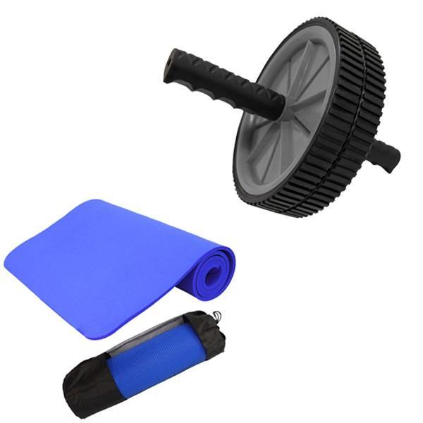 腹筋ローラー マット付き アブ 腹筋マシン 運動器具 エクササイズローラー ヨガマット 10mm セット トレーニング ピラティス ホットヨガ WEIMALL|weimall|18