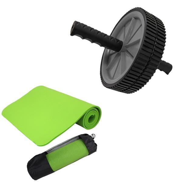 腹筋ローラー マット付き アブ 腹筋マシン 運動器具 エクササイズローラー ヨガマット 10mm セット トレーニング ピラティス ホットヨガ WEIMALL|weimall|20