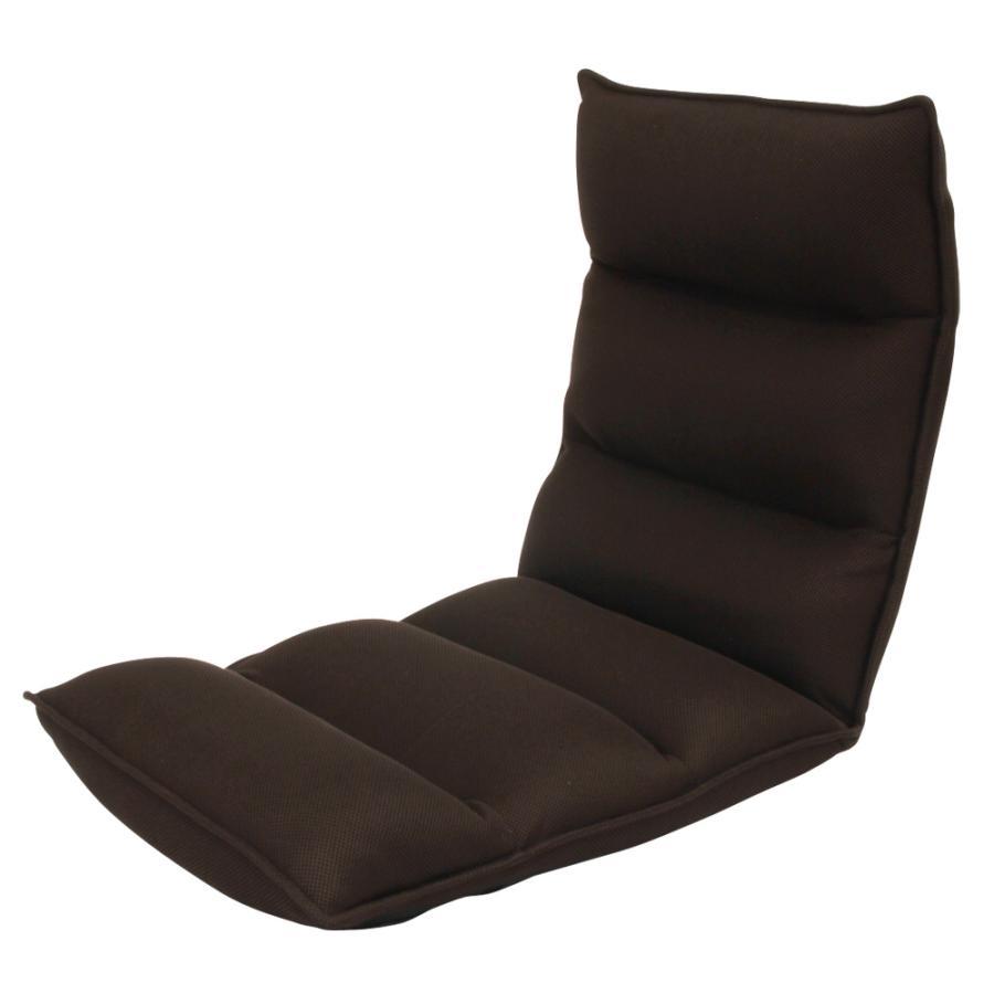 座椅子 リクライニング 低反発 ハイバック リラックス構造 メッシュ 全5色 日本製ギア コンパクト 高座椅子 チェア 1人掛け おしゃれ 腰痛 テレワーク 座いす weimall 24