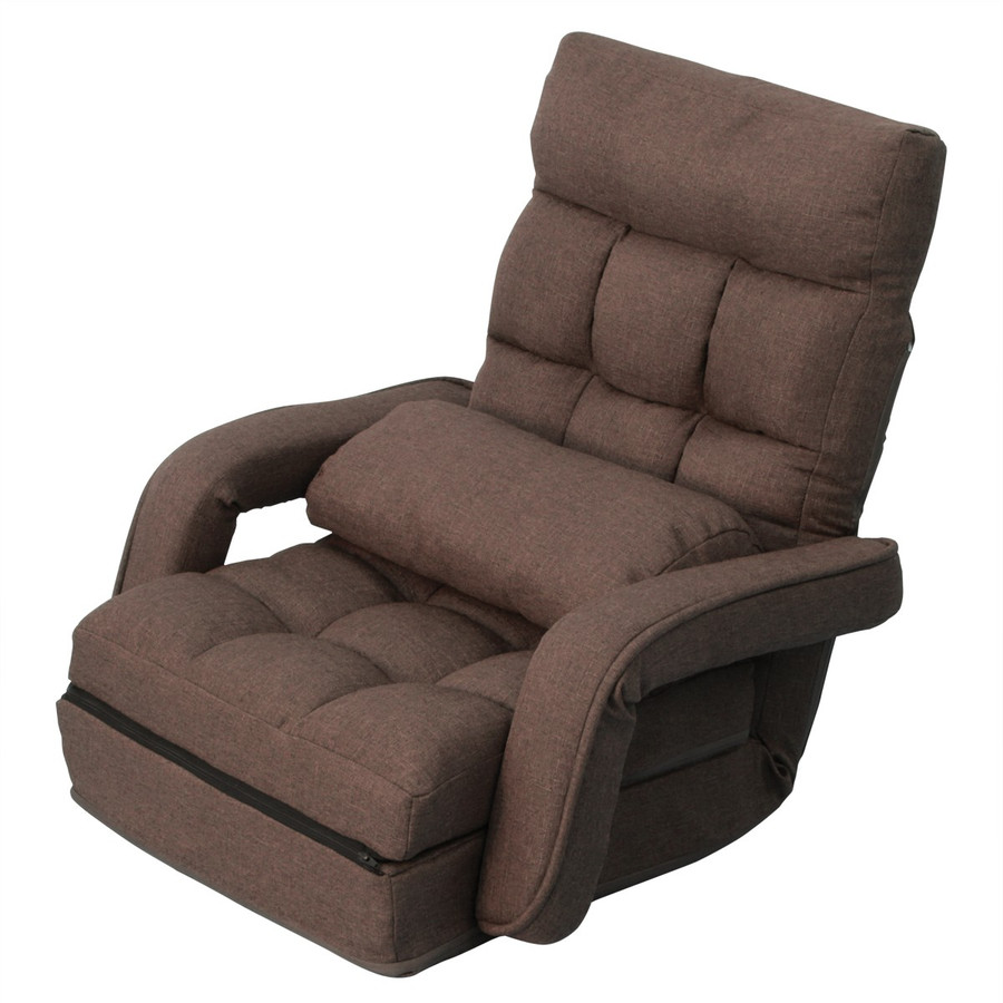 座椅子 リクライニング 肘掛け付き 日本製ギア ハイバック 全2色 ソファベッド クッション付き 一人掛け ソファ 新生活 コンパクト WEIMALL weimall 13