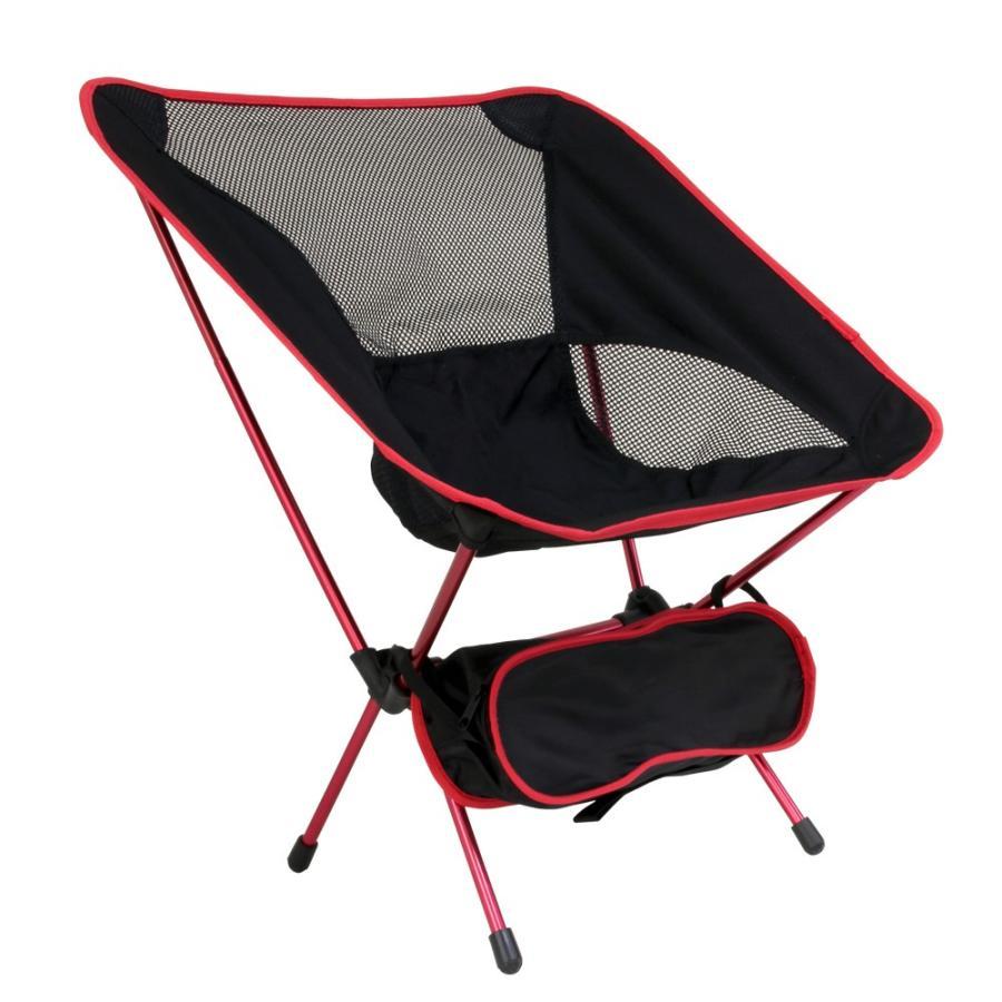 アウトドアチェア 全3色 収納ケース付き 耐荷重100kg 軽量1kg未満 背面メッシュ素材 コンパクト 折りたたみ 軽量 椅子 ベランピング 庭キャンプ MERMONT|weimall|17
