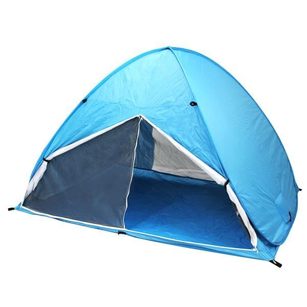 サンシェード テント ワンタッチ 2人用 3人用 日よけ メッシュ 200cm×150cm おしゃれ ポップアップテント ビーチテント フルクローズ weimall 16