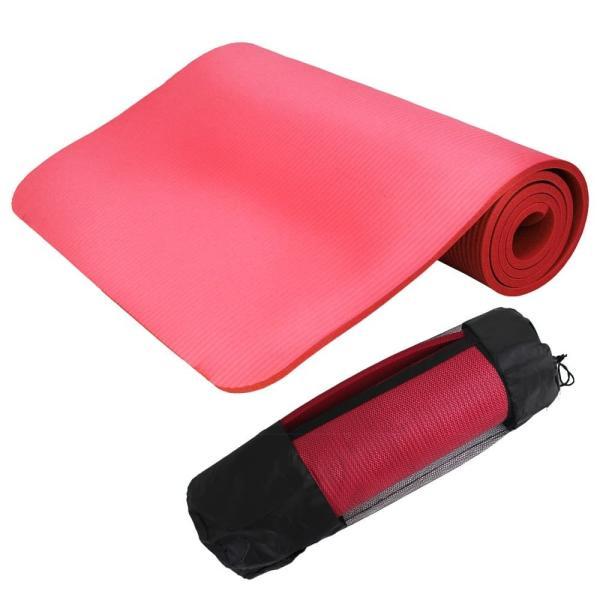 ヨガマット 10mm ホットヨガ ピラティス ストレッチ ダイエット 収納ケース付き 健康 器具 エクササイズ トレーニング 2本セット|weimall|12