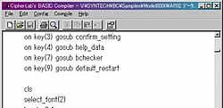 ハンディターミナル 8001シリーズ サイファーラボ Cipher LAB BASIC言語で容易にアプリケーション開発