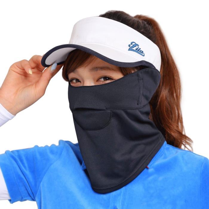 フェイスカバー C型 UVカットマスク ランニング マスク フェイスマスク スポーツ 夏用 ネックガード 日焼け防止 レディース White Beauty white-beauty 30