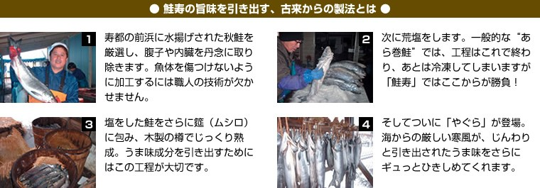 鮭寿の旨味を引き出す、古来からの製法とは