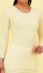 キルティングあったか肌着 婦人用:8分袖スリーマー