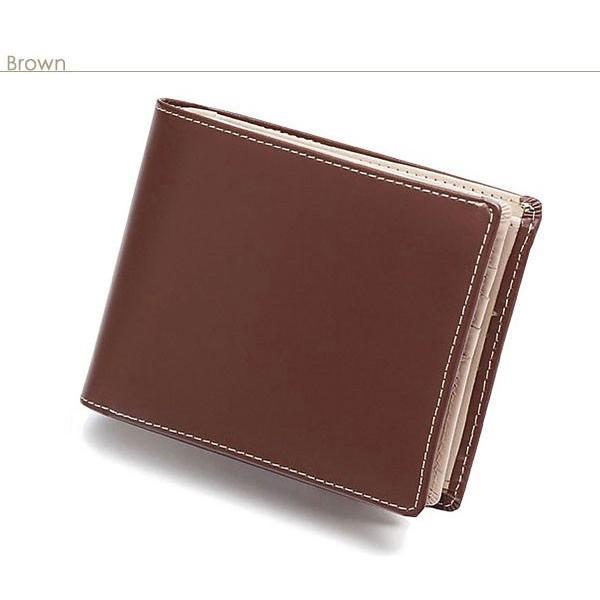 二つ折り財布 メンズ 大容量 カードたくさん入る 財布 新春財布 新年 革 名入れ ネーム入れ 本革 ボックス型 コンパクト シンプル 使いやすい|wide|16