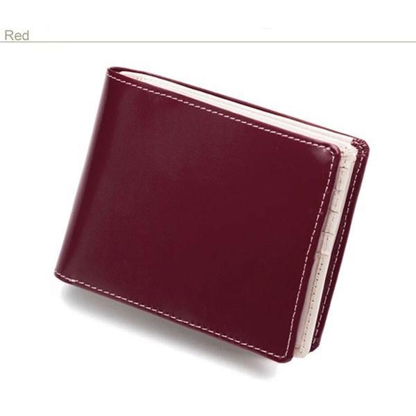 二つ折り財布 メンズ 大容量 カードたくさん入る 財布 新春財布 新年 革 名入れ ネーム入れ 本革 ボックス型 コンパクト シンプル 使いやすい|wide|20