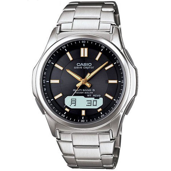 腕時計 メンズ 電波ソーラー カシオ アナログ 薄型 見やすい おしゃれ 男性用 紳士 日付 曜日 軽い 薄い ブランド CASIO じゅん散歩 ロッピング|wide|24