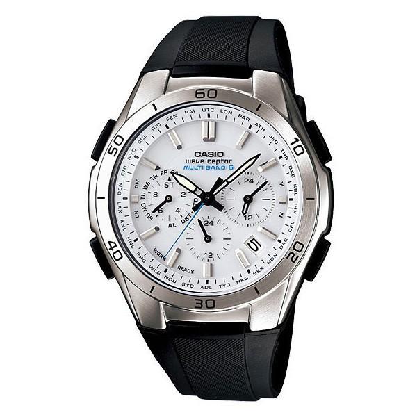 腕時計 メンズ 電波ソーラー アナログ クロノグラフ ビジネス 薄型 カシオ腕時計 軽量 プレゼント 男性用 紳士用 ラバーバンド ゴムバンド 防水 wide 15