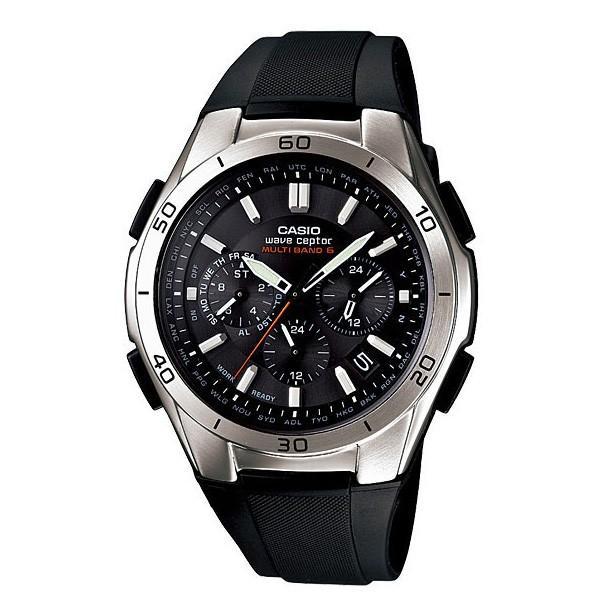 腕時計 メンズ 電波ソーラー アナログ クロノグラフ ビジネス 薄型 カシオ腕時計 軽量 プレゼント 男性用 紳士用 ラバーバンド ゴムバンド 防水 wide 16