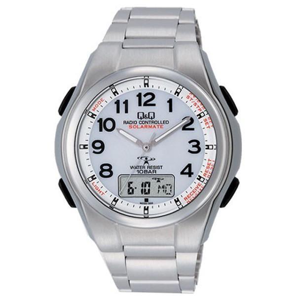 腕時計 メンズ 電波ソーラー シチズン ソーラー電波腕時計 電波時計 5局 海外対応モデル 10気圧防水 アナログ デジタル デジアナ  CITIZEN wide 22