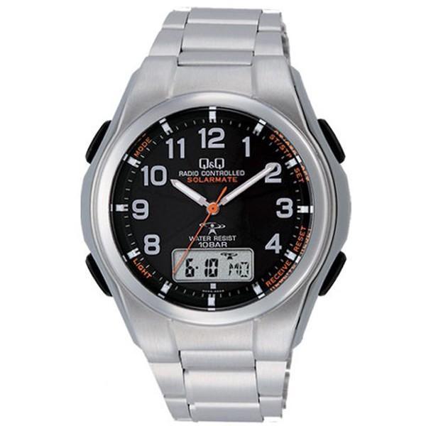 腕時計 メンズ 電波ソーラー シチズン ソーラー電波腕時計 電波時計 5局 海外対応モデル 10気圧防水 アナログ デジタル デジアナ  CITIZEN wide 23