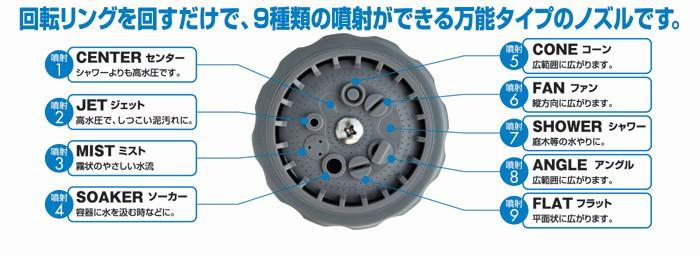 首振りガーデンコイルホース スタンドセット【カタログ掲載 1503】