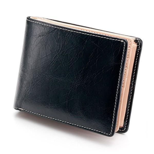 財布 メンズ 二つ折り 大容量 コンパクト 革 皮 牛革 本革 男性用 紳士革財布 30代 40代 50代 カードがたくさん入る 名入れ ギフト プレゼントに|wide|22