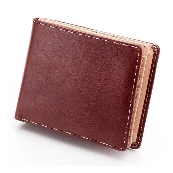財布 メンズ 二つ折り 大容量 コンパクト 革 皮 牛革 本革 男性用 紳士革財布 30代 40代 50代 カードがたくさん入る 名入れ ギフト プレゼントに|wide|23