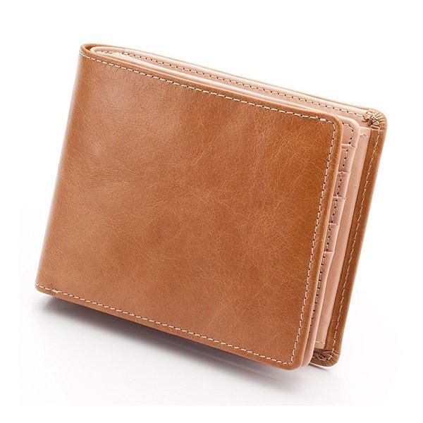 財布 メンズ 二つ折り 大容量 コンパクト 革 皮 牛革 本革 男性用 紳士革財布 30代 40代 50代 カードがたくさん入る 名入れ ギフト プレゼントに|wide|24