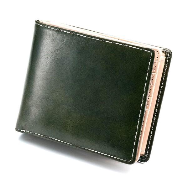 財布 メンズ 二つ折り 大容量 コンパクト 革 皮 牛革 本革 男性用 紳士革財布 30代 40代 50代 カードがたくさん入る 名入れ ギフト プレゼントに|wide|26