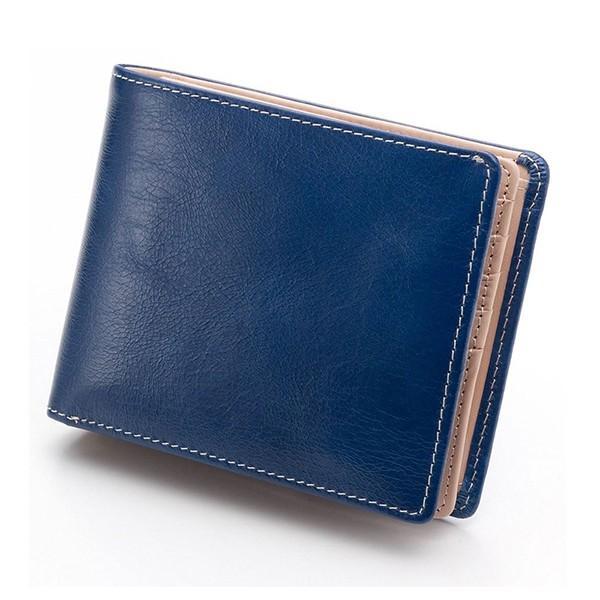 財布 メンズ 二つ折り 大容量 コンパクト 革 皮 牛革 本革 男性用 紳士革財布 30代 40代 50代 カードがたくさん入る 名入れ ギフト プレゼントに|wide|25