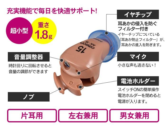 オムロン イヤメイトデジタル AK-15 2個セット【非課税】【新聞掲載】【カタログ掲載1610】