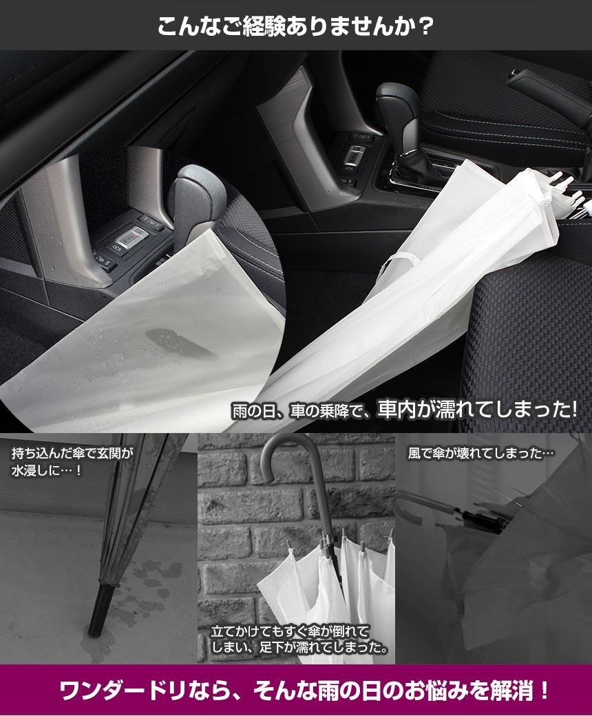 濡れにくい便利傘 WONDER DRI ワンダードリ【2本セット】