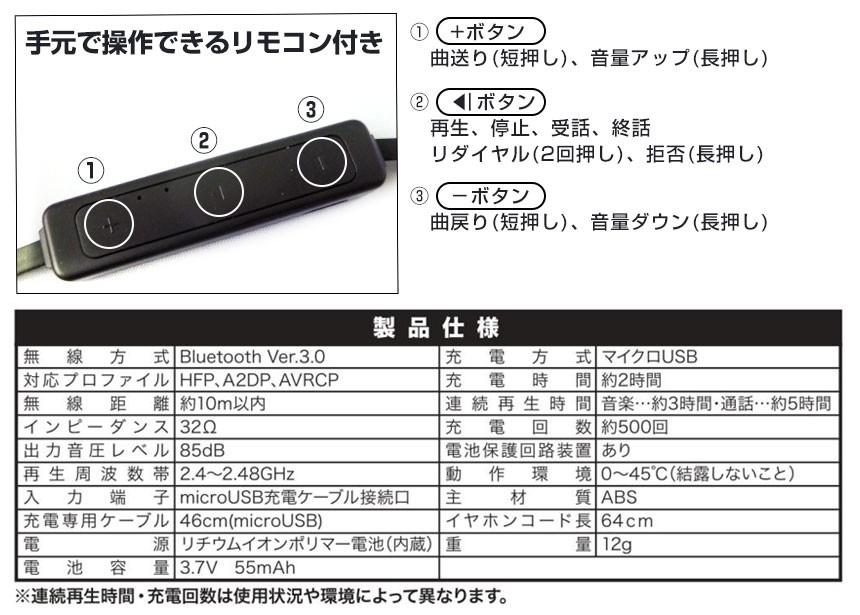 Bluetooth ワイヤレスイヤホン [DL-726]